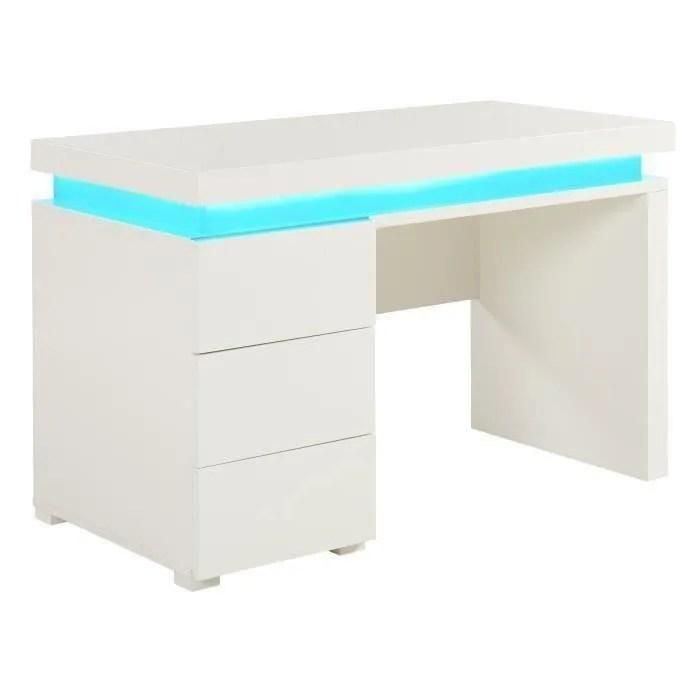bureau blanc laque