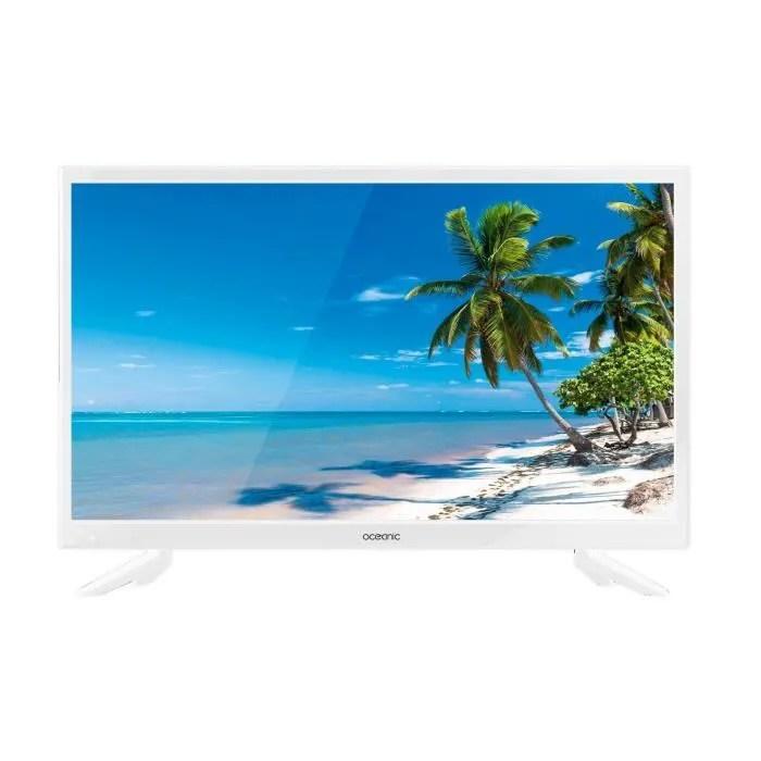 tv oceanic 24 60 cm hd blanche 1366 768 1 hdmi 1 usb pvr ready classe energetique a