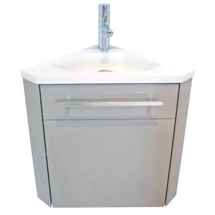 ondee lave mains d angle nino 53cm taupe laque livre en kit