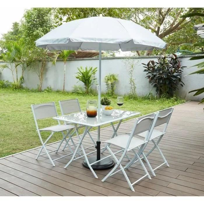 table et chaises de jardin 4 personnes