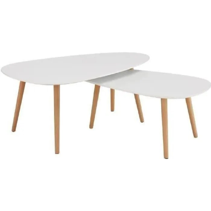 table basse kivi lot de 2 tables basses
