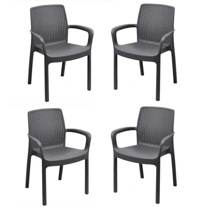 lot de 4 fauteuils empilables regina