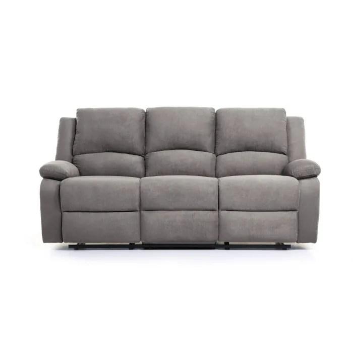 relax canape de relaxation droit 3 places tissu