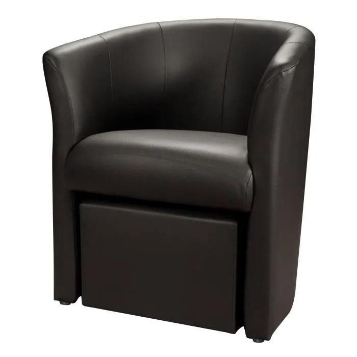 baya fauteuil cabriolet pouf simili