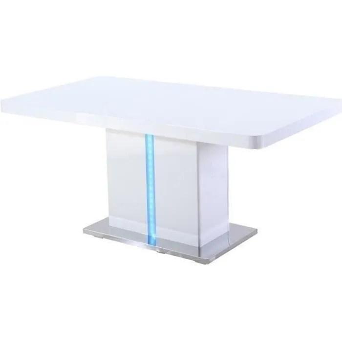 table a manger avec rallonge laquee blanc