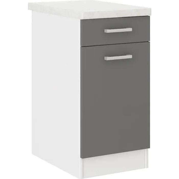 meuble de cuisine bas avec tiroir 80cm