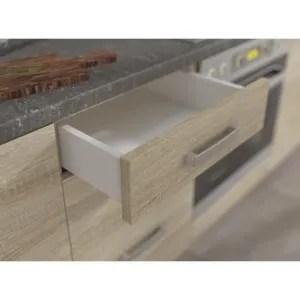 meubles cuisine en kit gris soldes