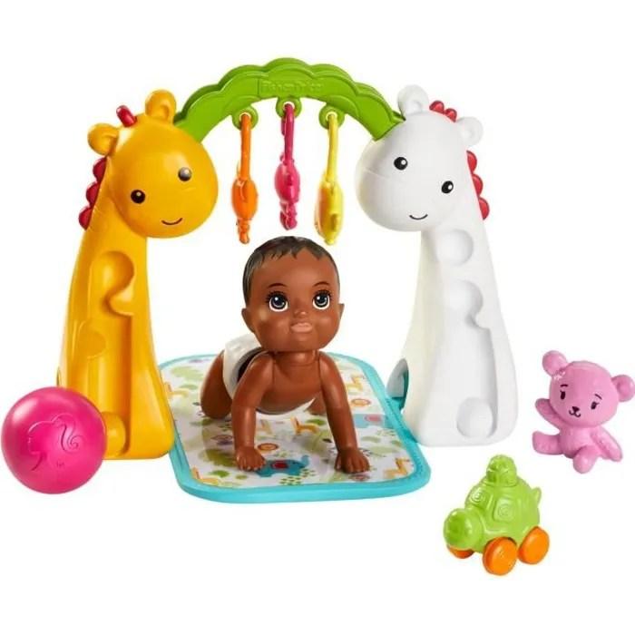 barbie skipper baby sitter bebe et tapis d eveil