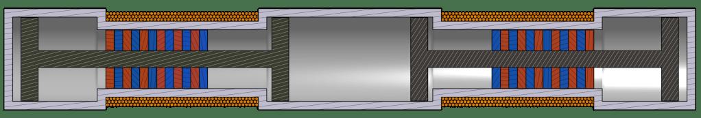 Cutaway View of a Simple Balanced Free Piston Linear Generator