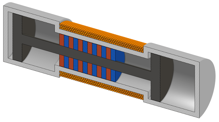 Cutaway View of a Simple Free Piston Linear Generator