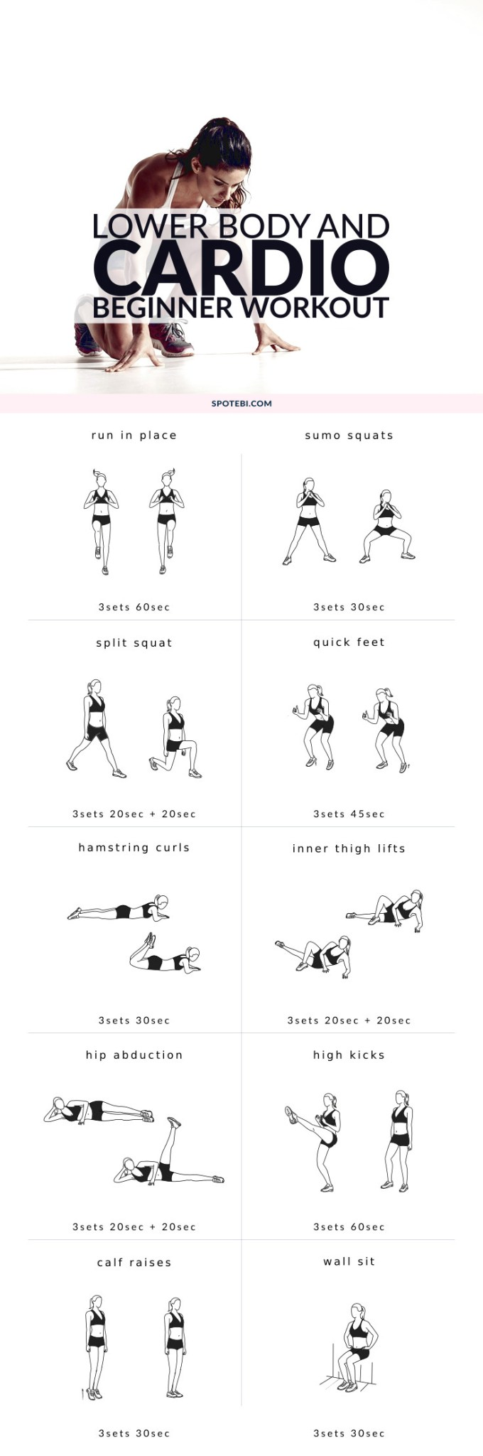 Lower Body Cardio Beginner Workout Routine