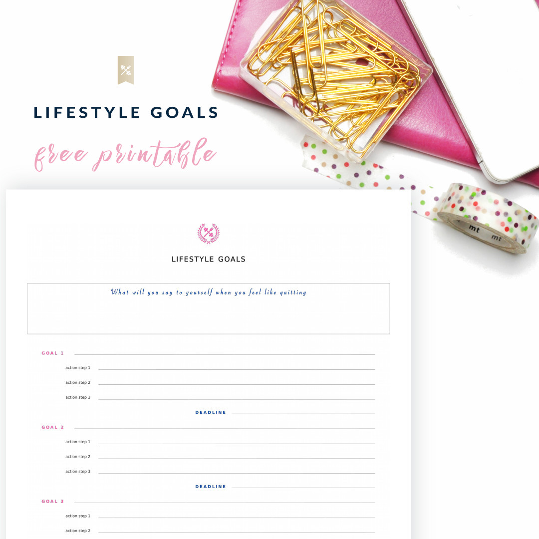 Lifestyle Goals Printable