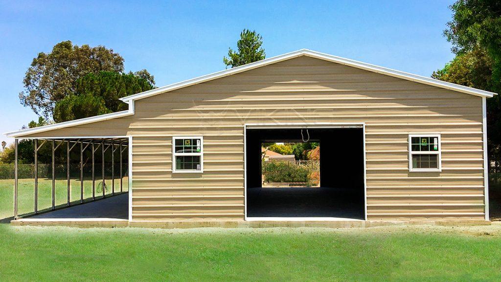 Metal Lean To Carport Plans Metal Garage With Lean To