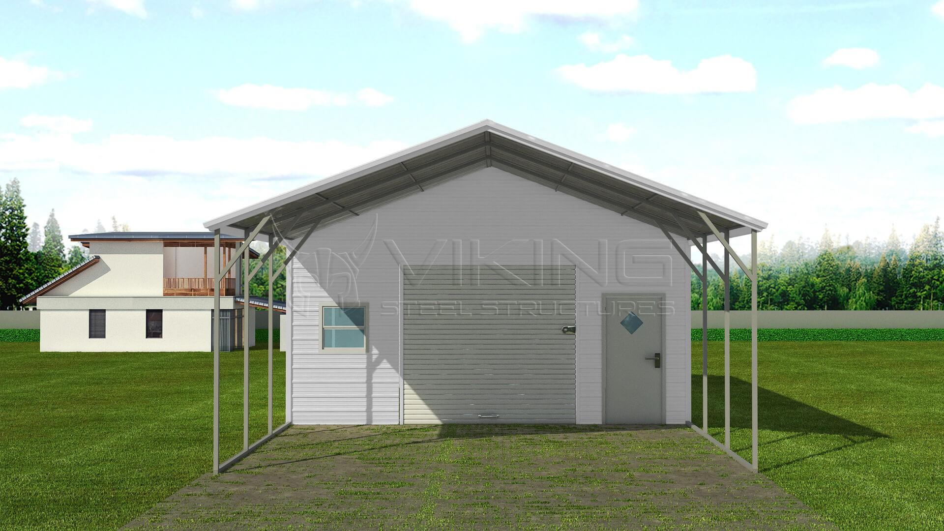 20x36 Steel Carport With Storage