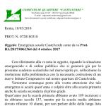 Emergenza Scuola Castelverde anno scolastico 2018-2019