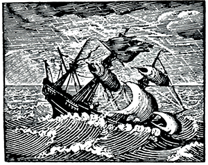 Image result for shipwreck woodcut