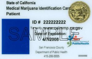 Sample Patient Medical Marijuana Identification Card