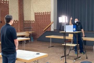 Aufnahme der Kandidatenvideos