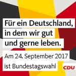 Linkbild: Aufruf zur Bundestagswahl am 24.09.2017