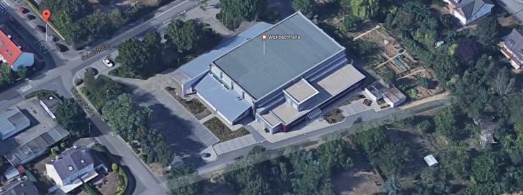 Weilbachhalle, 3D-Draufsicht
