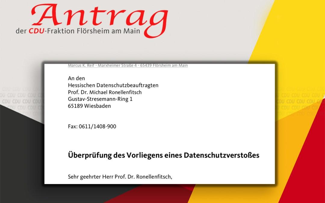 Main-Spitze: CDU schaltet Datenschützer ein