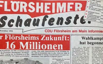 75 Jahre CDU Flörsheim – Jens Weckbach blickt auf das Jahr 1992 zurück