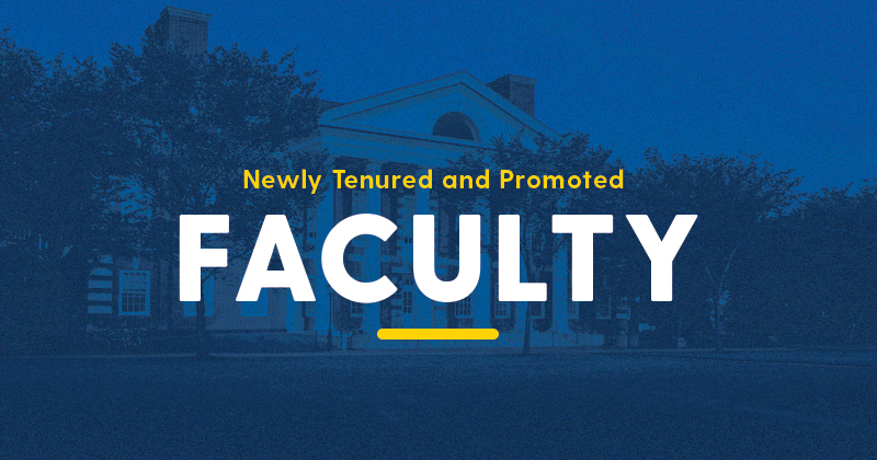 Newly Tenured and Promoted Faculty