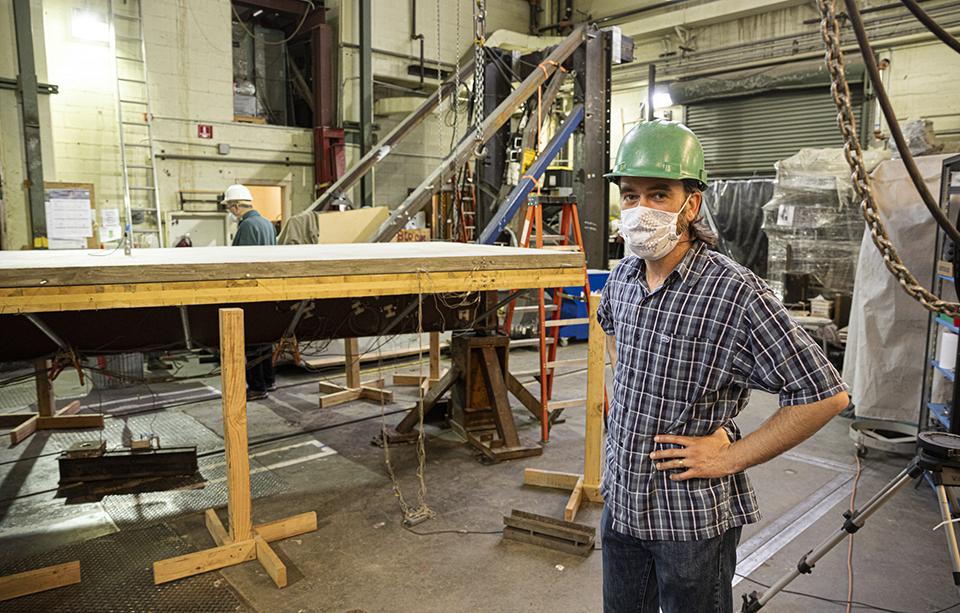 Professor Jeffrey Berman standing in a lab