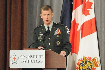 Gen. McChrystal addresses the Conference of Defence Associations Institute. DND photo LF2009-0191d-008.
