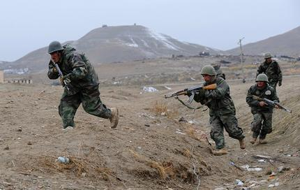 Afghan National Army soldiers at the Kabul Military Training Centre