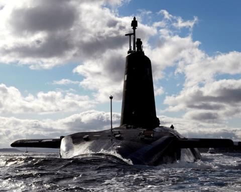 HMS Vengeance, one of Britain's four Vanguard-class ballistic missile submarines.