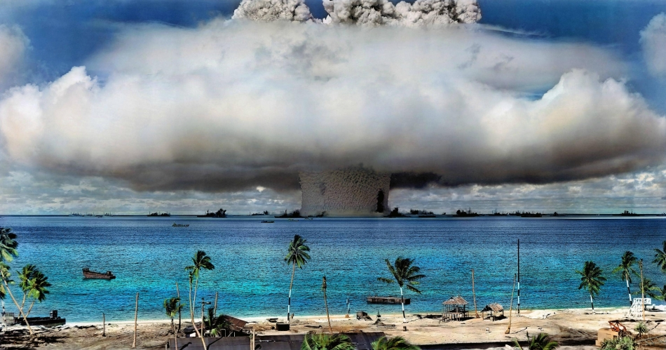 U.S. nuclear weapon test at Bikini Atoll in the Marshall Islands in 1946.