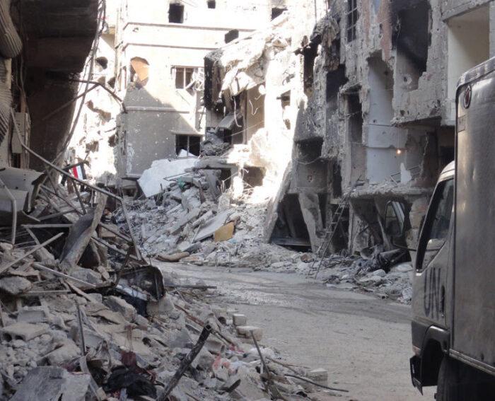UNRWA photo Yarmouk Camp Damascus
