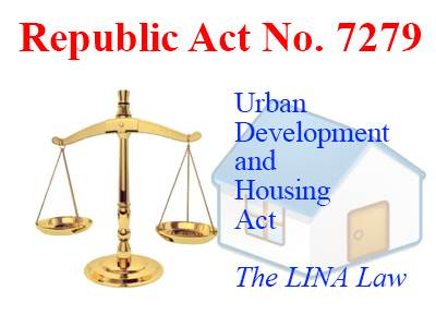 RA 7279 Lina Law UDHA