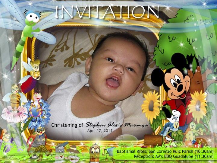 Baby Christening Background Tarpaulin