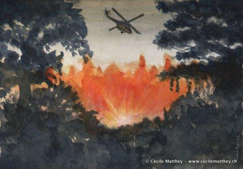 Illustration pour « Arrow » de Barry King (webzine « The Future Fire »).