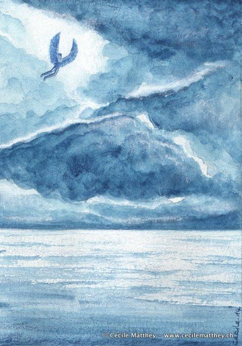 Le héros mythologique s'envole vers le ciel... avec les conséquences que l'on sait.