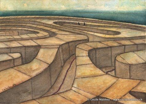 Thésée dévide patiemment le fil d'Ariane dans le labyrinthe... Trouvez le MInotaure!