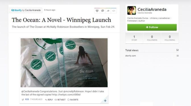 The Ocean Winnipeg Book Launch Storify