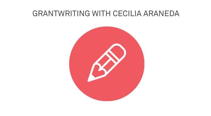 Grant writing with Cecilia Araneda