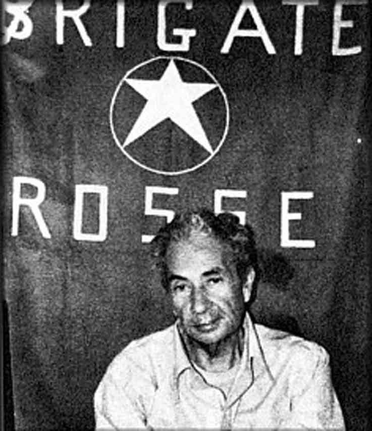 Aldo Moro secuestrado por las Brigadas Rojas