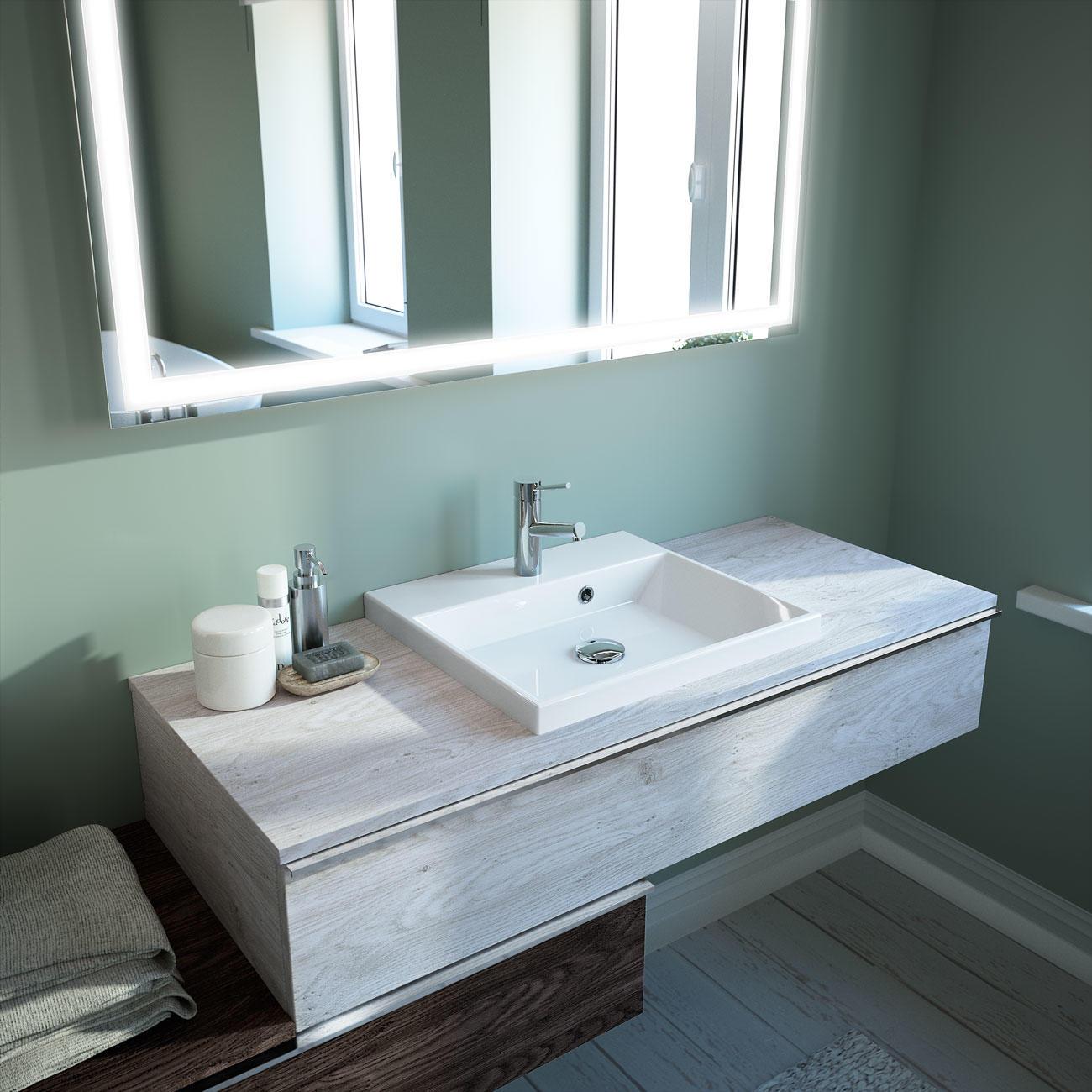Plan De Toilette Fin Vasque Meubles De Salle De Bains Baignoires Fabricant Francais Cedam