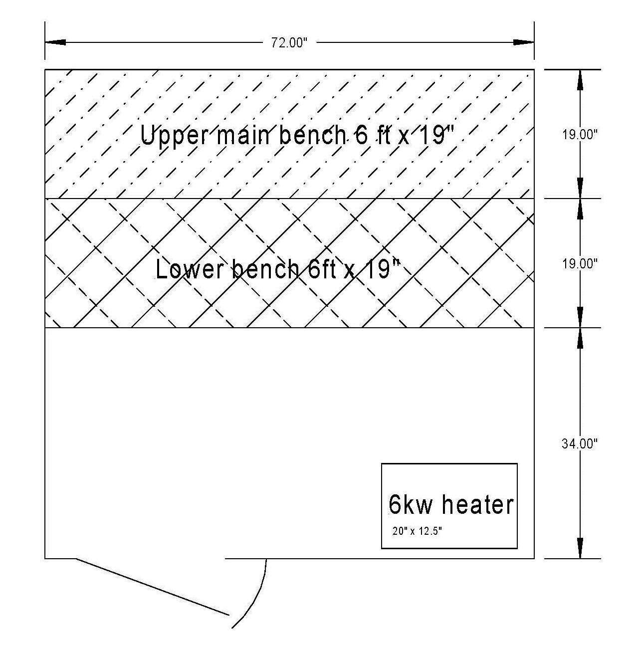 Sauna Room Package 6 Kw Electric Heater