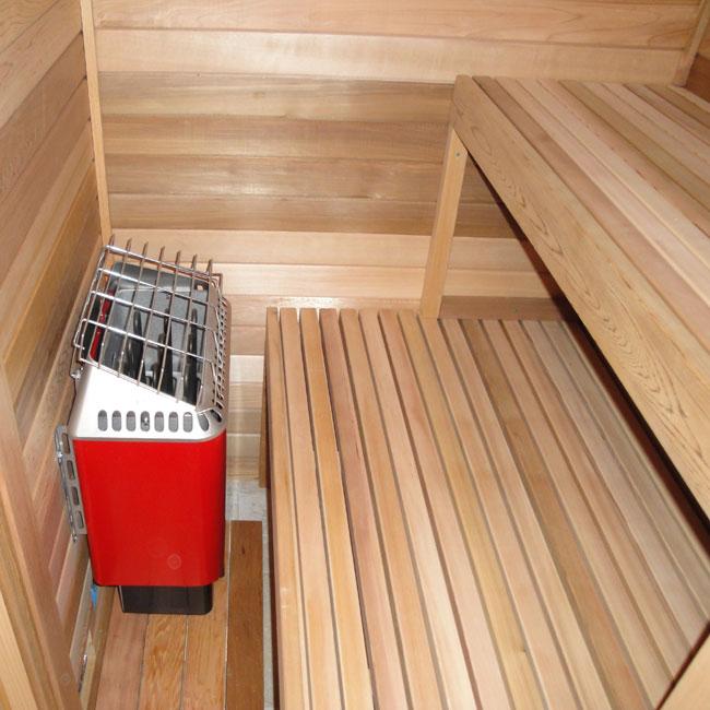 4 X4 Freestanding Pre Fab Sauna Kit Heater Accessories