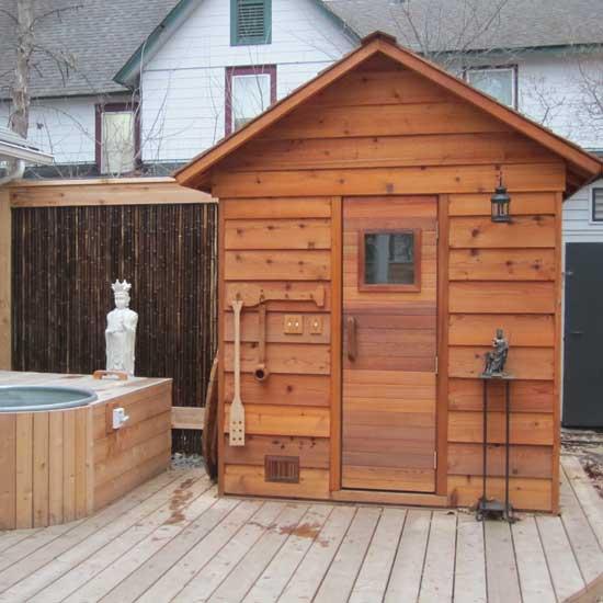 5 X 6 Outdoor Sauna Kit Heater Accessories