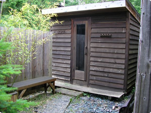 Naturally Weathered Cedar Sauna