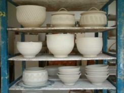 Pots waiting to be fired
