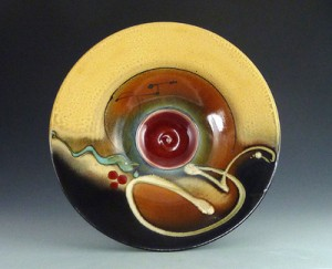 Loren Lukens Low Bowl Rust