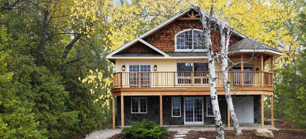 Cedar Homes   Award Winning Custom Homes   Post and Beam Cottage Plans VACATION HOMES