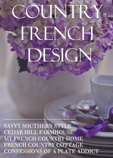COUNTRY FRENCH DESIGN BUTTON